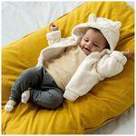 Prenatal newborn unisex teddy jas - Ivoor Wit