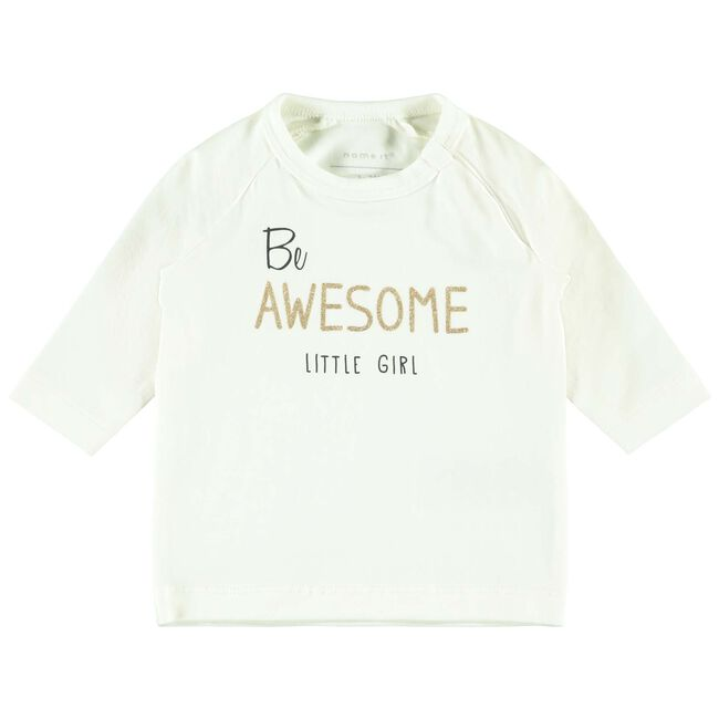Name it baby meisjes T-shirt - White