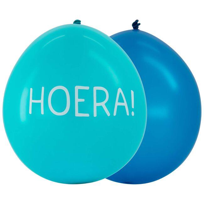 Prenatal ballonnen hoera 6 stuks - Blue