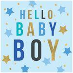 MapPublishing kaartserie Hammond Gower 'Hello Baby Boy' - Blue