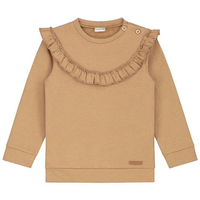 Prénatal baby meisjes sweater - Light Taupe Brown