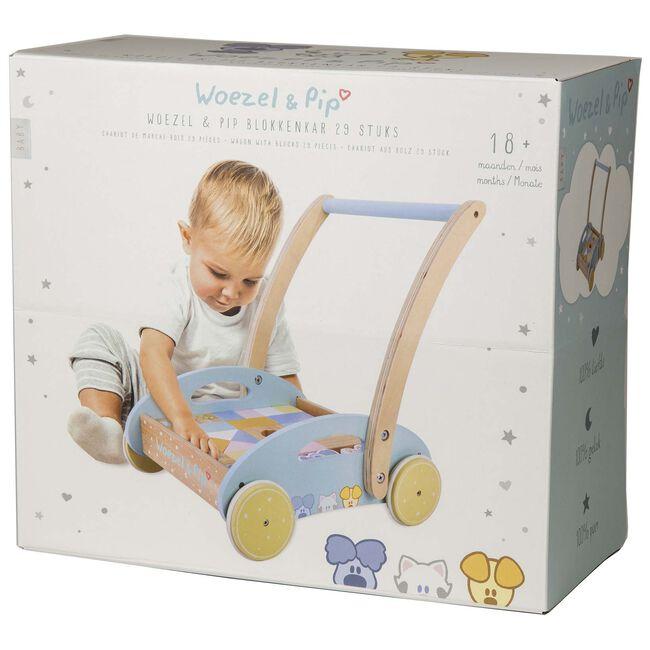 Woezel & Pip baby blokkenkar - Multi