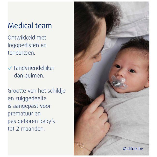 Difrax fopspeen natural 'I love papa' newborn -