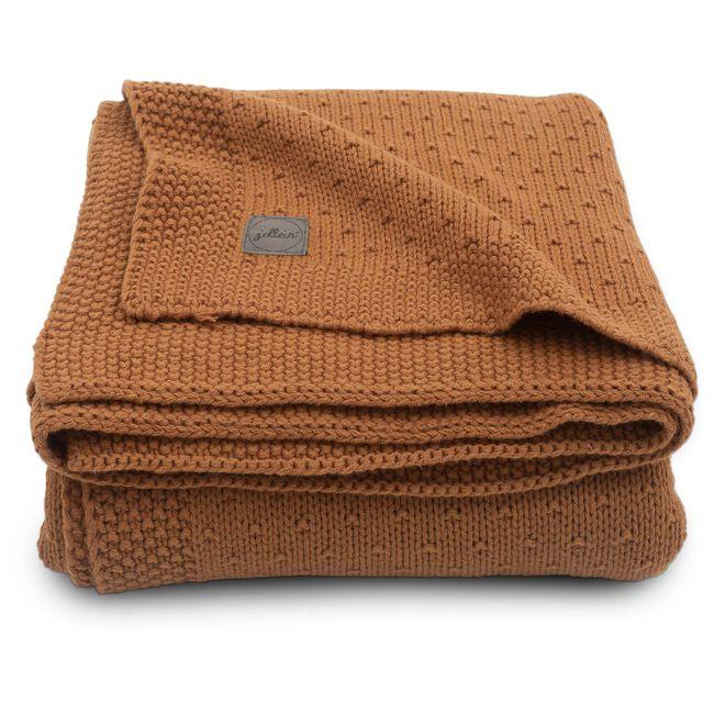 Jollein ledikant deken bliss knit - Caramel