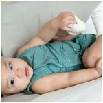 Prénatal newborn jongens overslag romper - Dark Aqua