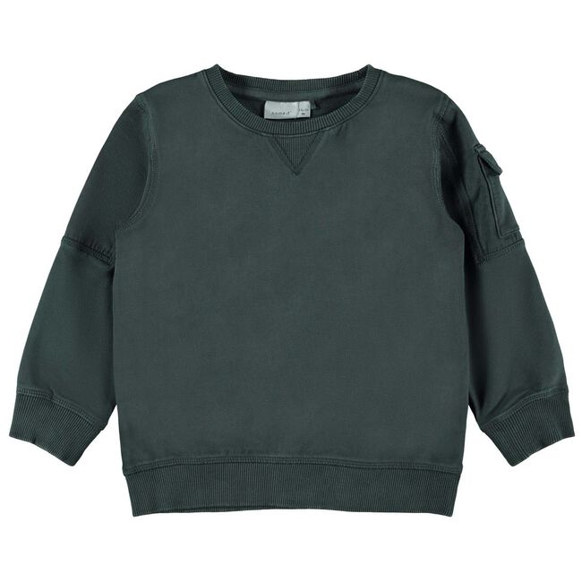 Name it peuter jongens sweater - Bottle Green