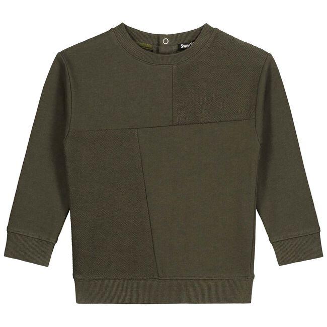 Sweet Petit peuter jongens sweater Dean - Darkbrown