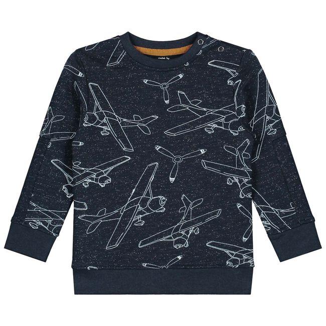 Prénatal baby jongens sweater. - Dark Blue Melange