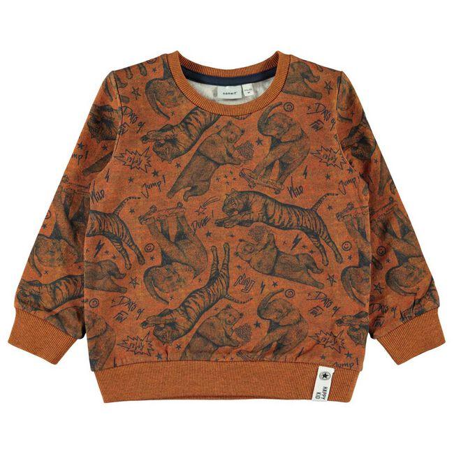 Name it peuter jongens sweater - Almond