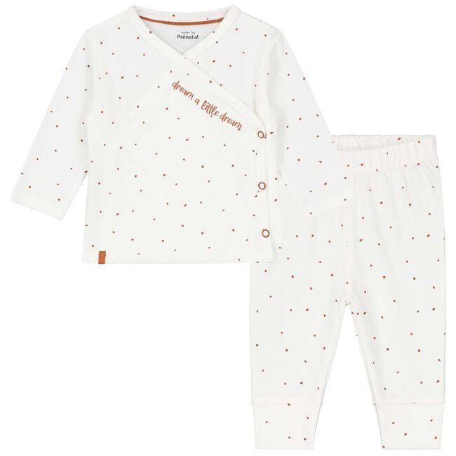 Prenatal baby unisex pyjama - Ivoor Wit
