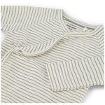 Prénatal newborn jongens overslag shirtje - Dark Off-White