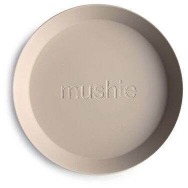 Mushie bord rond 2 stuks -
