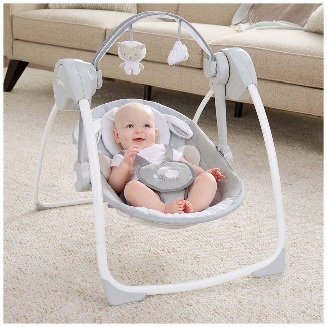 Ingenuity Comfort 2GO Portable Swing Cuddle Lamb -