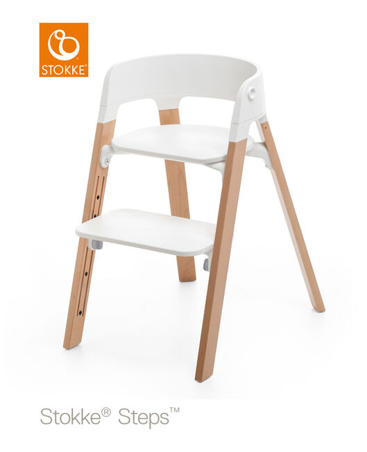 Stokke Steps kinderstoel (zitting + voetenplank) - White