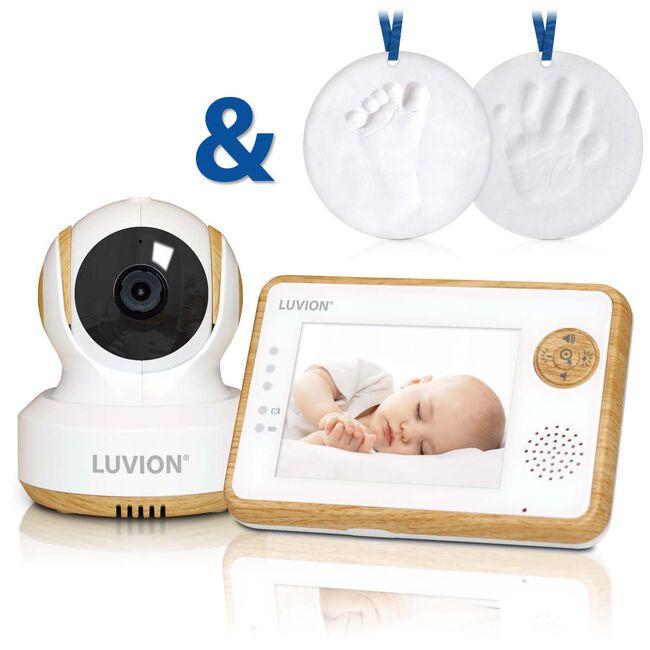 Luvion Essential Limited Edition babyfoon + gips gipsafdrukset - Beuken