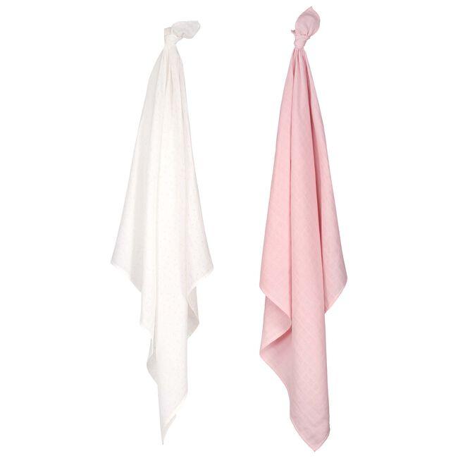 Prénatal hydrofiele doek roze - Light Rosered