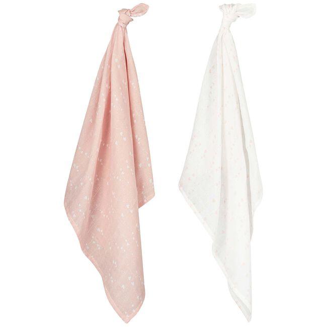 Prénatal hydrofiele luier pink hearts -