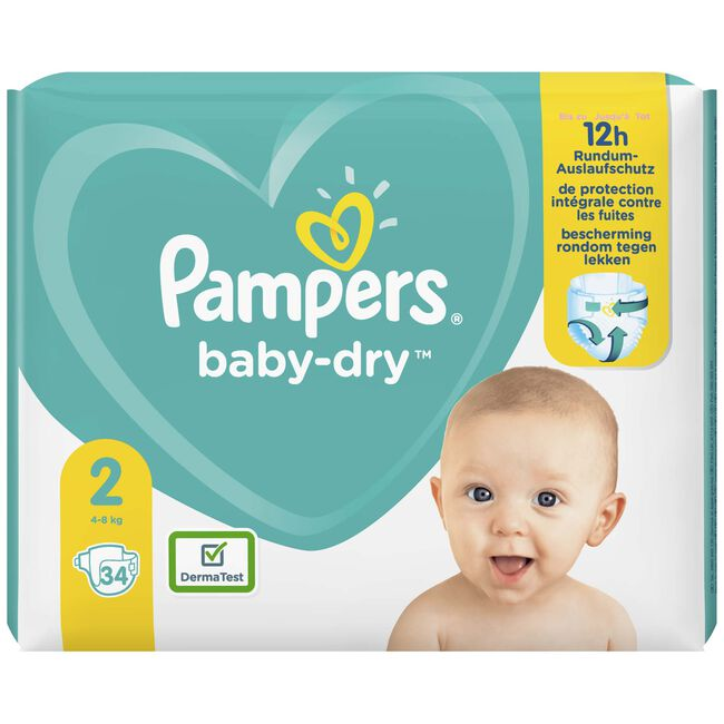 Pampers Baby-Dry carrypack - Fuchsia Red