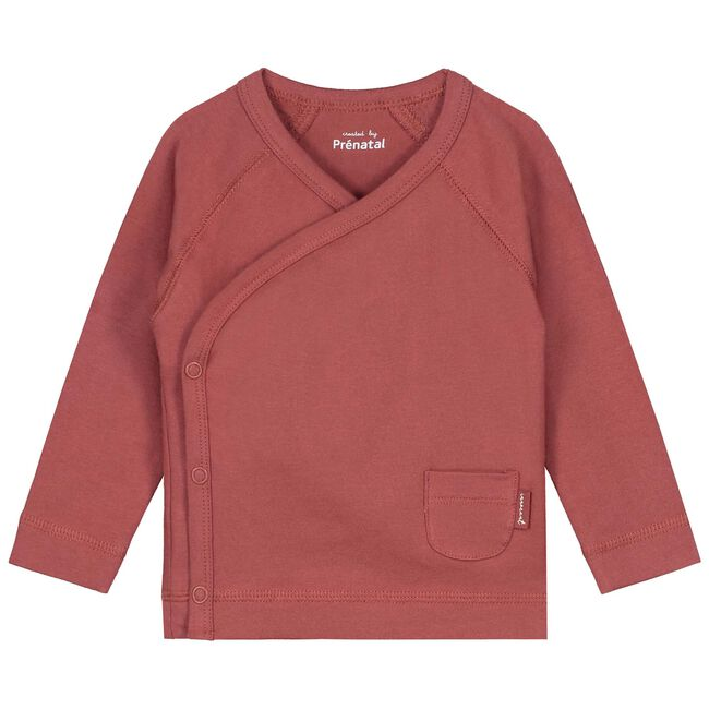 Prenatal newborn unisex overslag shirtje - Winered