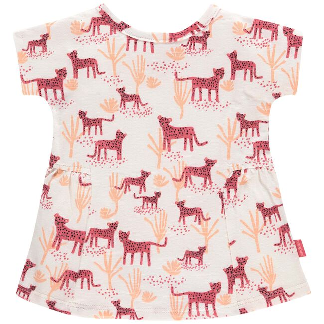 Noppies meisjes jurk - Coralred