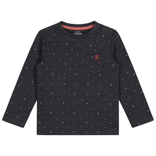 Prénatal baby jongens t-shirt - Rock Grey Melange