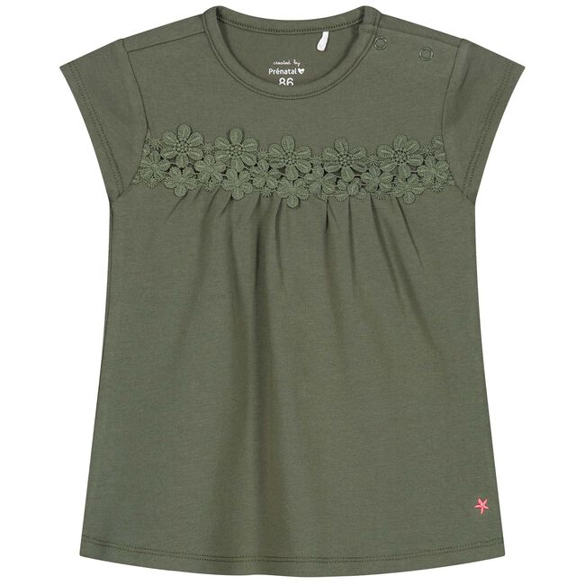 Prénatal baby meisjes T-shirt - Olivegreen