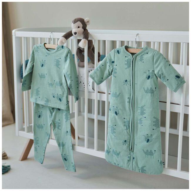 Prénatal peuter pyjama dieren - Light Mint Green