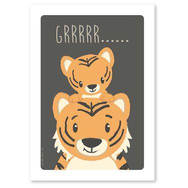 Studio Circus A6 kaart tijger -