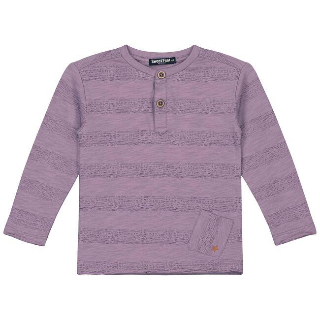 Sweet Petit peuter jongens t-shirt Olivier - Dark Purple
