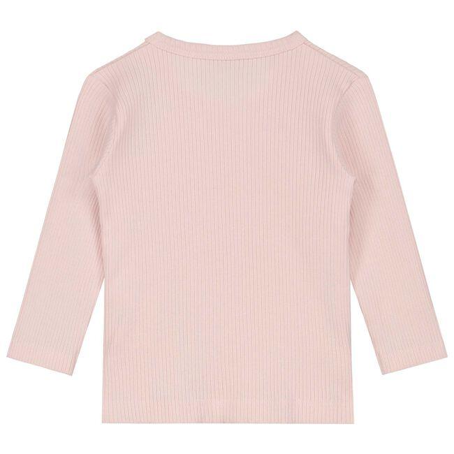 Prénatal newborn meisjes overslag shirtje - Powder Pink