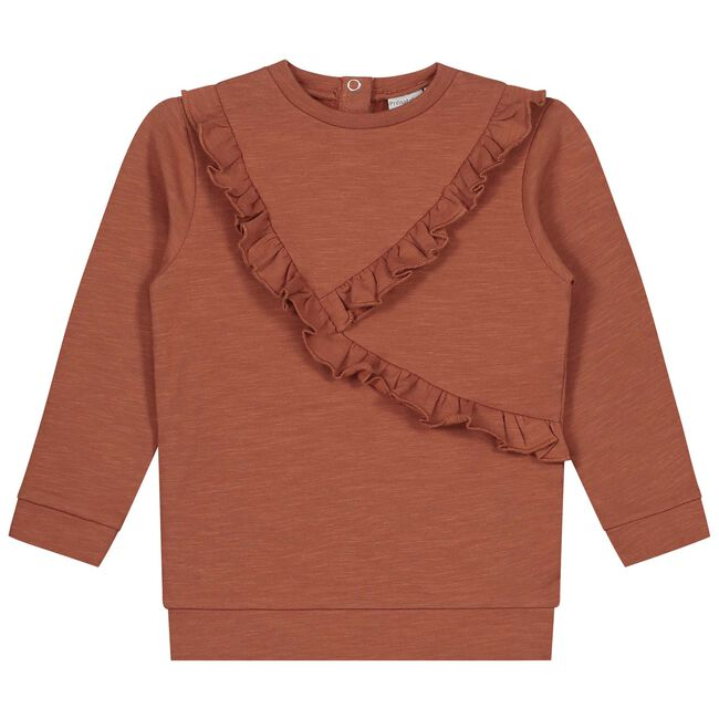 Prénatal baby meisjes sweater - Deep Orange