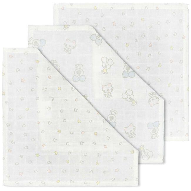 Woezel & Pip hydrofiel multidoek 3-pack - Wit