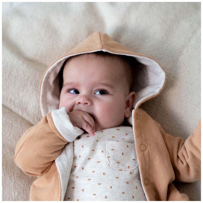 Prénatal newborn shirtje unisex - Light Ecru Melange