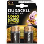 Duracell batterijen C 2-pack Alkaline - Black