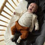 Prénatal newborn vest Pure - Dark Ecru Melange