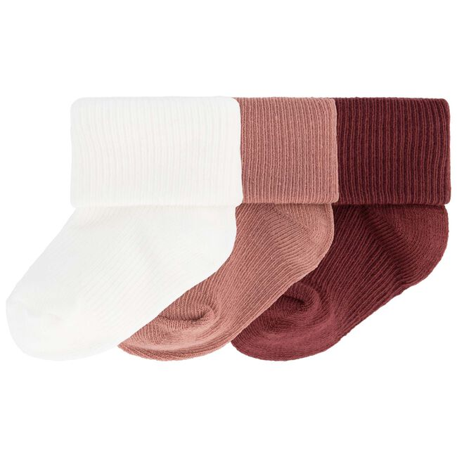 Prenatal newborn meisjes sokken 3-pack - Dark Pink
