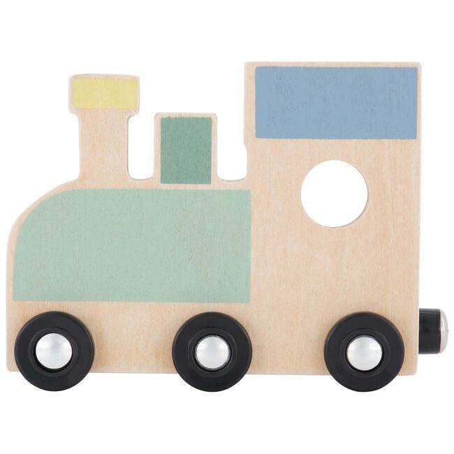 Prénatal houten namentrein locomotief - Multi