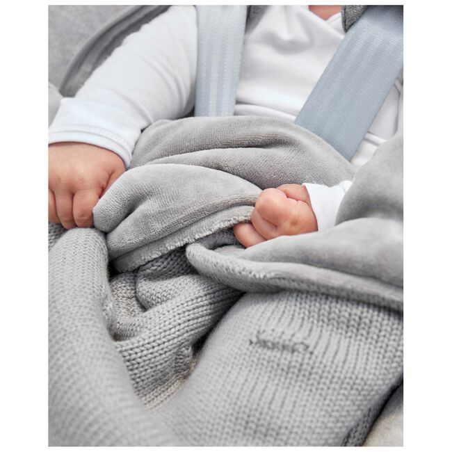 Meyco voetenzak knots - Grey
