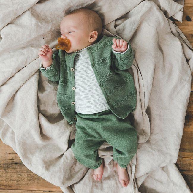 Prenatal baby jongens shirt gestreept - Leaf Gree