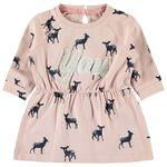 Name it baby meisjes jurk - Mid Pink