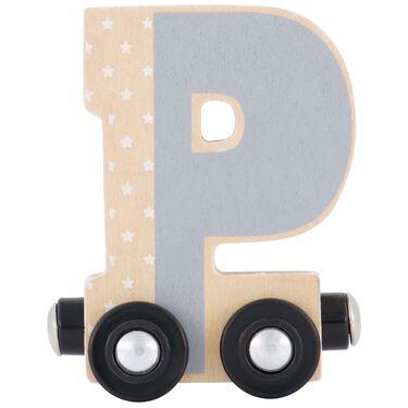 Prénatal houten namentrein letter P -