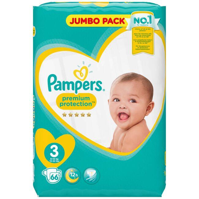 Pampers Premium Protection maat 3 (6-10 kg) - jumbo pack 66 luiers - Onbekend