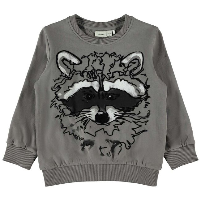 Name it peuter jongens sweater - Dark Graphite Grey