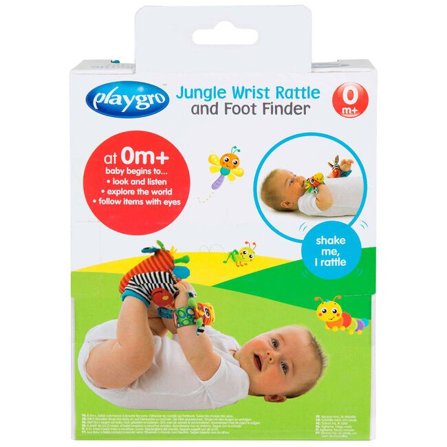 Playgro jungle Wrist Rattle and Foot Finder Set -