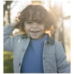 Sweet petit peuter jongens jas Noah - Black/Brown