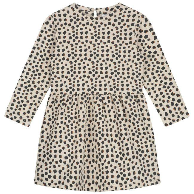 Prénatal peuter meisjes jurk - Light Brown Melange
