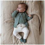 Prenatal newborn unisex broekje melange - Light Ecru Melange