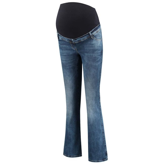 Love2wait zwangerschapsbroek flared - Denim