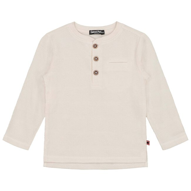 Sweet Petit peuter jongens t-shirt Kai - Ecru