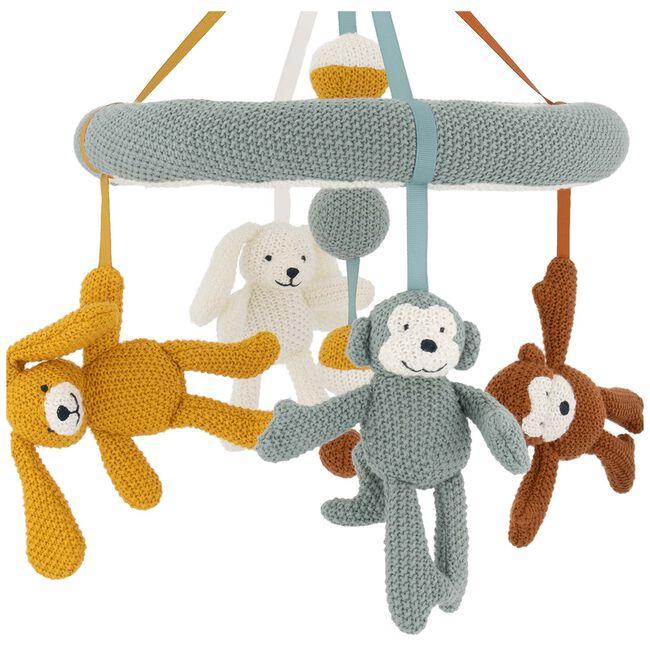 Prenatal muziekmobiel little knits - Midgreen